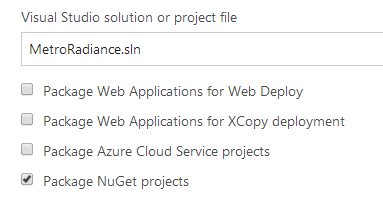 Package NuGet projects