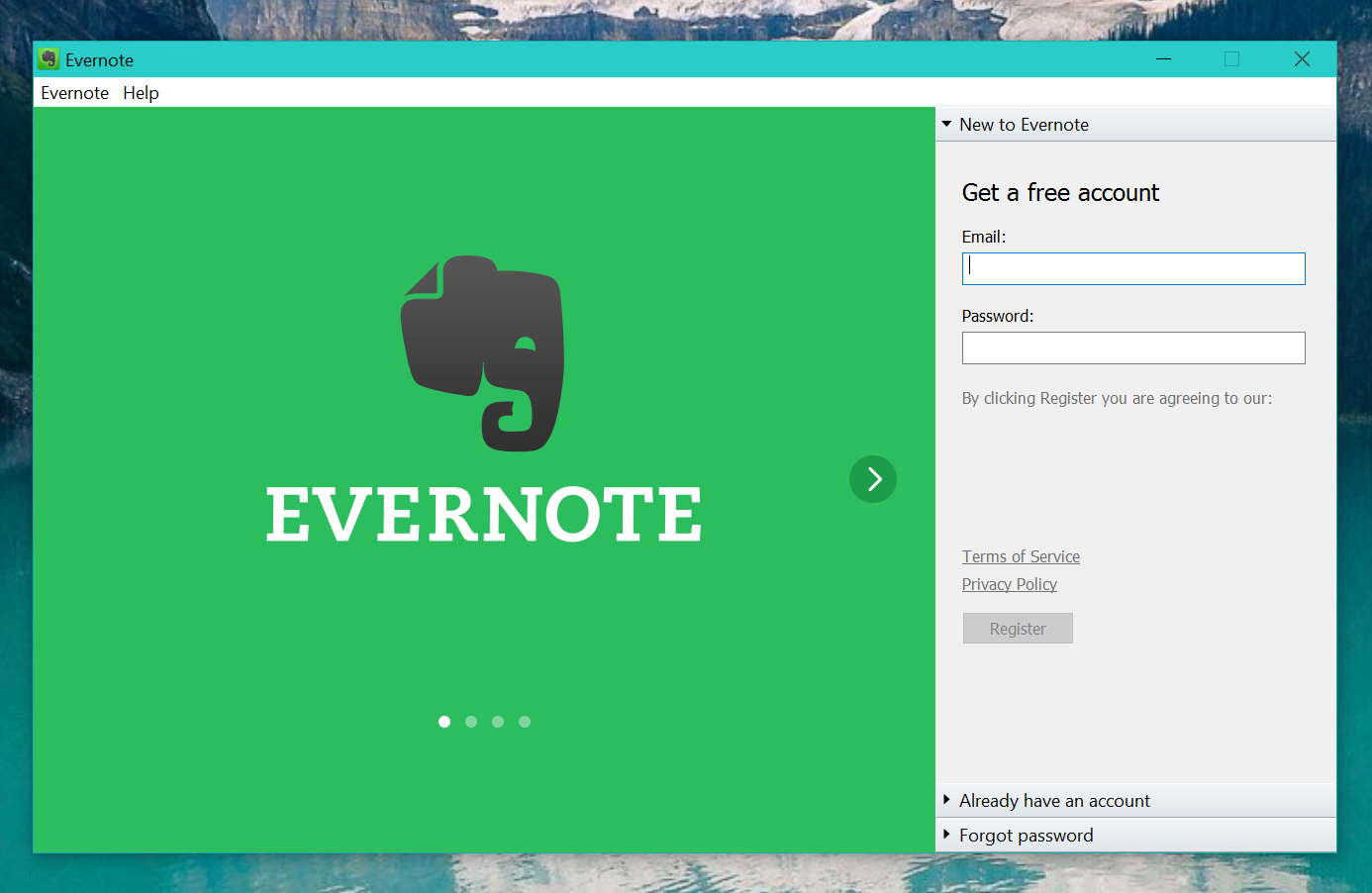Evetnote (UWP Packaged)