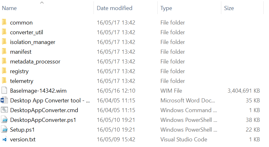 Desktop App Converter files